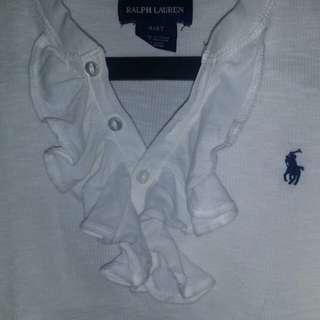 Authentic Ralph Lauren white top