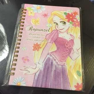Notebook 簿 長髮公主 disney