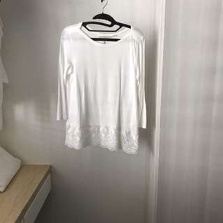 H&M Long sleeved boat neck top