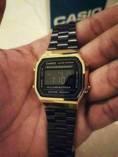 Casio Vintage Watch Gold Black