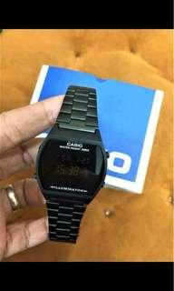 Casio Vintage Watch Black Slim