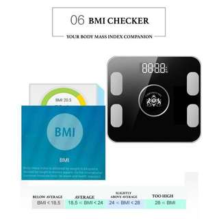 One Smart Bluetooth Fat Analyser BMI Weighing Body Scale Android iOS Technology Body Weight Scales