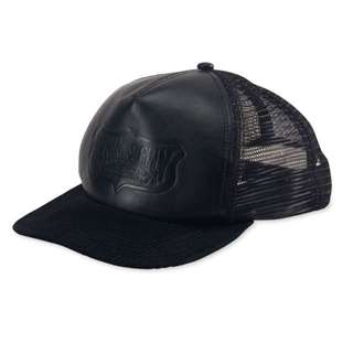 Ralph Lauren Denim and Supply Men's Black Faux-Leather Trucker Hat