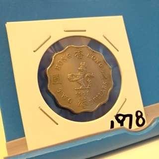 1978年女王頭2贰元港幣