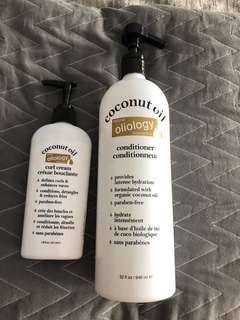 Oliology coconut hair products