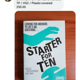 Starter for Ten (David Nicholls)