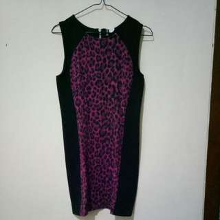 H&M Bodycon Dress Leopard