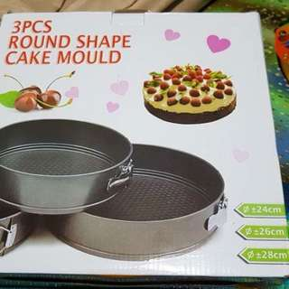 Round shaped removable bottom pan cake mould
