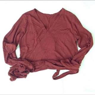 Shopcopper wrap top