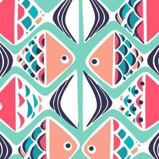 Vera Bradley Go Fish Cotton Fabric Pre-Order