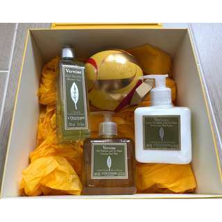 L'OCCITANE Christmas Gift Set Verbena Hand Wash Hand Lotion Shower Gel 馬鞭草梘液 潤手乳液 沐浴啫喱 潤手霜 潤膚露 護膚皂