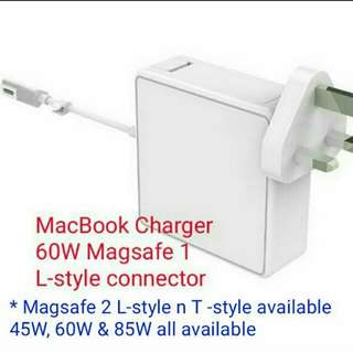 Hello CC® 60W with magsafe 1 L-style connector, is the replacement Magnetic Laptop Power adaptor for Macbook