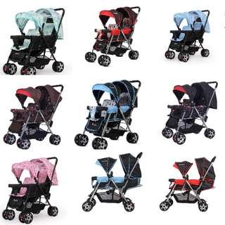 Twins double seater pram /stroller