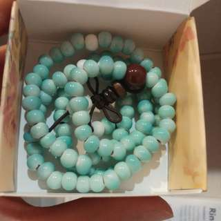 Turquoise stone necklace/bracelet