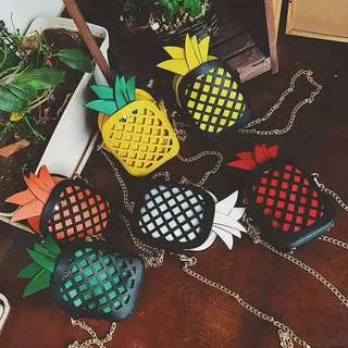PREORDER: Pineapple sling bags (Many colours to choose from)