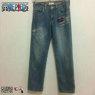 One Piece chopper kid girl jeans