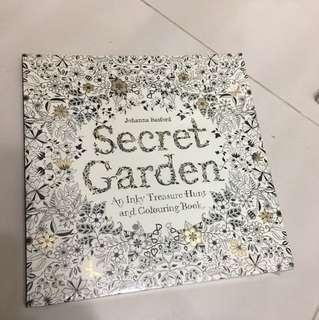 台版 繪圖畫冊 secret garden