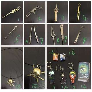 BN Swords Keychains collectibles