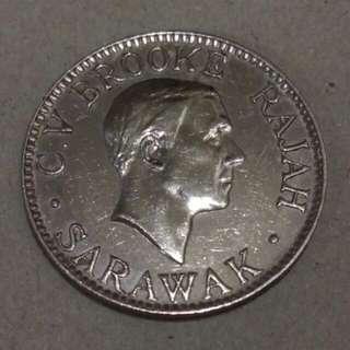 Sarawak 1934 syiling 10 cents coin