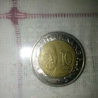 Old ten peso coin