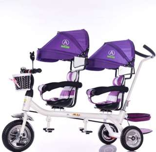 Twins double seater tricycle