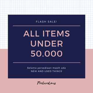 [FLASH SALE] UNDER 50K (all items) #1