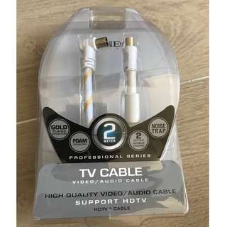 全新 SIGNEO SSH212 TV Cable Video/Audio Cable 電視天線 2米長 2 METER