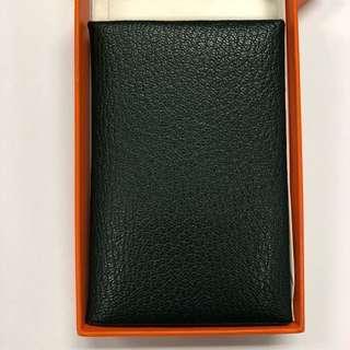 (新春減價) 100% New Hermes Calvi Card Holder Case in Mysore Leather, Vert Titien 愛馬仕深綠色山羊皮卡套卡片夾
