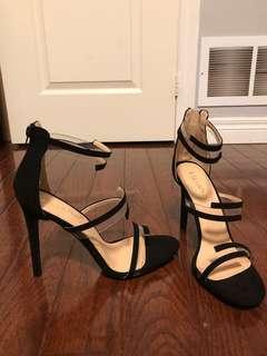 Brand new 3 strap black heels