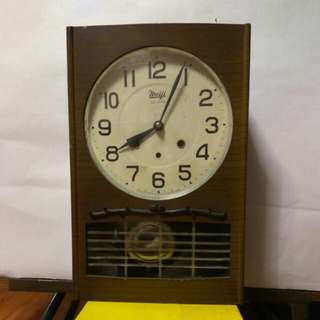 Meiji antique clock 30 days 2 hole