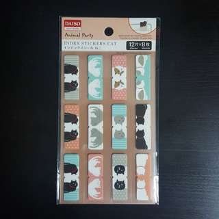 Index tab stickers