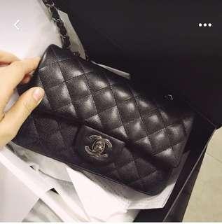 徵: Chanel cf small 20cm 黑牛皮