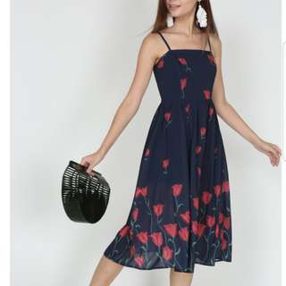 MDS Erica Dress in Midnight Floral