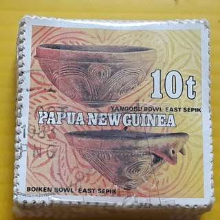 100 STAMPS LOT ( 1 BUNDLE ) - PAPUA NEW GUINEA - YANGORU / BOIKEN BOWL EAST SEPIK  - Commemorative - Used Stamp