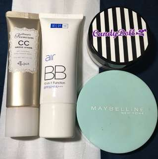 BB cream & foundation (Ettusais, Hada Labo, Candydoll, Maybelline)