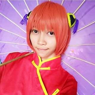 Wig Orange Oren Kagura Gintama