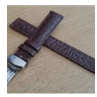 Tali Jam Tangan Kulit Coklat Leather Watch Strap Band Crocodile Grain