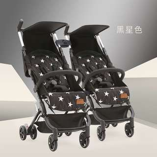 NEW Recline Single / Double / Twin Stroller - Pockit Inspired
