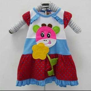 Dress baju bayi perempuan