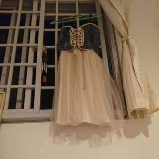 Denim x Corset x Ballerina dress