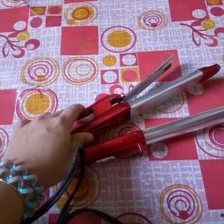 Hair iron curler