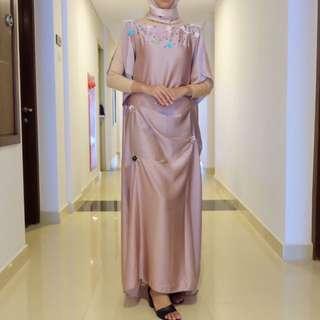 baju muslim semi kaftan dan inner