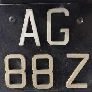AG88Z Number Plate