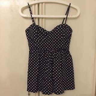 Forever21 dots bustier top