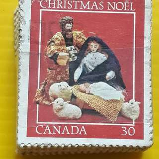 100 STAMPS LOT ( 1 BUNDLE ) - CANADA - Christmas Noel  - Commemorative - Used Stamp