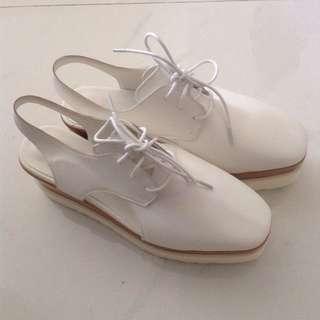 stella mccartney 款購置韓國女裝白色文青厚底小白鞋 涼鞋 短靴 Ankle Boots 韓國文青小白鞋