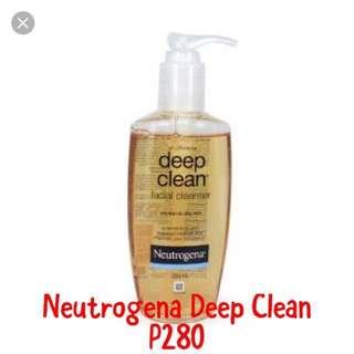 Neutrogena deep facial cleanser