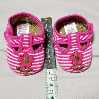 Newborn baby girl shoe from Mothercare