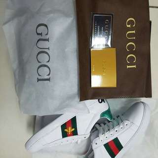 Gucci white shoes