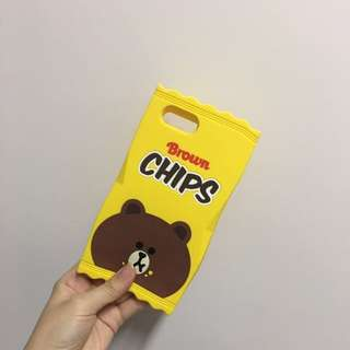 Line brown 熊大iphone 6s plus case